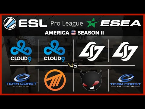 ESL ESEA NA S2 W1D3 All Matches | Cloud9 vs Coast - Cloud 9 vs Method - CLG vs NME - CLG vs Coast