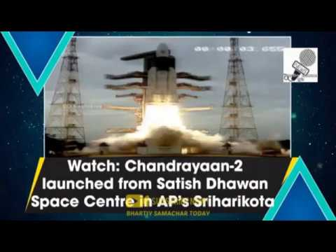 Download Indian moon probe chandrayaan 2 launches into space- ISRO| #Chandrayaan2 #IndianMoonMission Mp4 baru