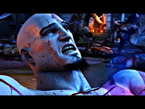 God of War 2 - Zeus Kills Kratos (Zeus Betrayal Cutscene)