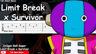 Dragon Ball Super OP 2 - Limit Break x Survivor Guitar Tutorial