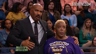 An Audience Member Literally Jumps On Steve Harvey And Loses Her Shoes