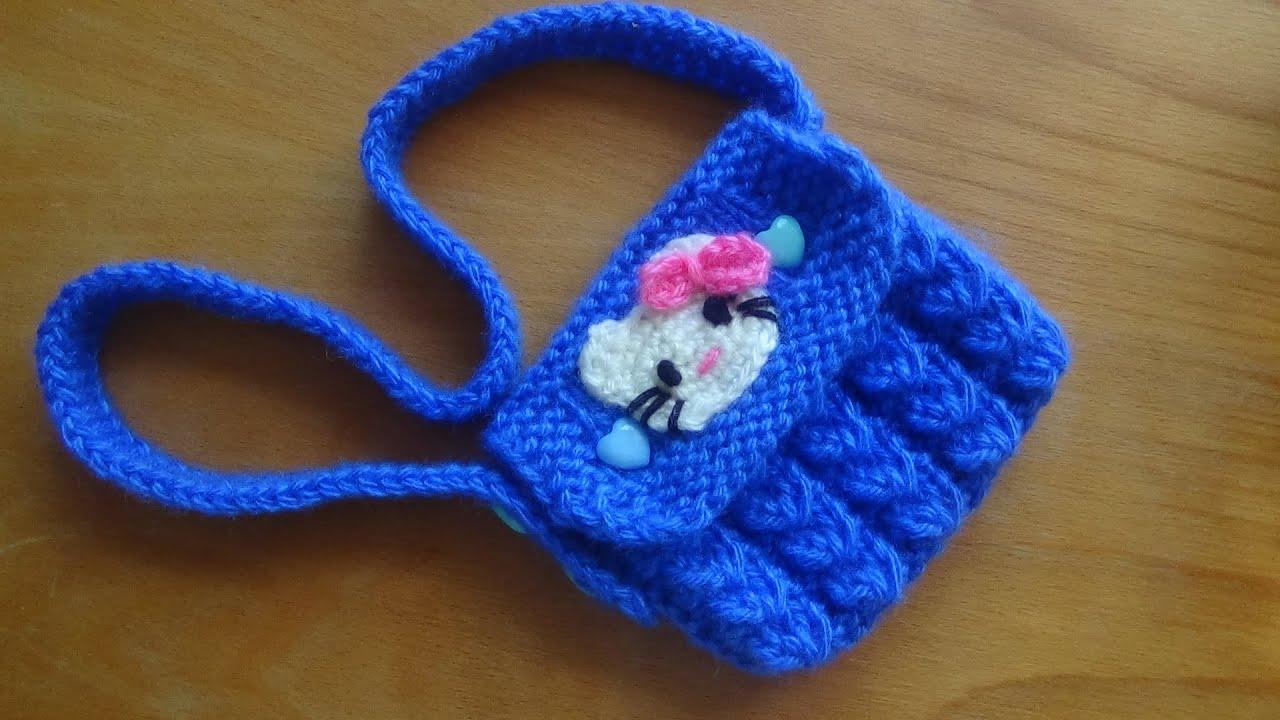 Вязание детских сумочек:вязанная сумка для девочки