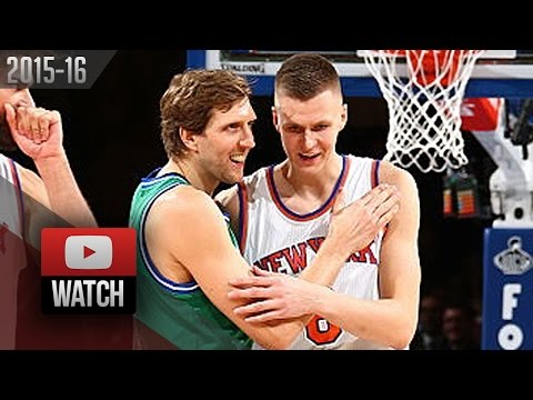 Kristaps Porzingis vs Dirk Nowitzki Duel Highlights (2015.12.07) Knicks vs Mavericks - MUST Watch!