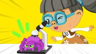 ¡Cuidado con las arañas del Dr. Spooky!- Dibujos para niños