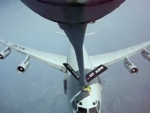 Near collision of USAF KC135 and NATO E3 AWACS