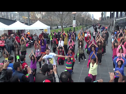 Indian Music And Dance Festival Bollywood Flash Mob  - SHIAMAK Melbourne