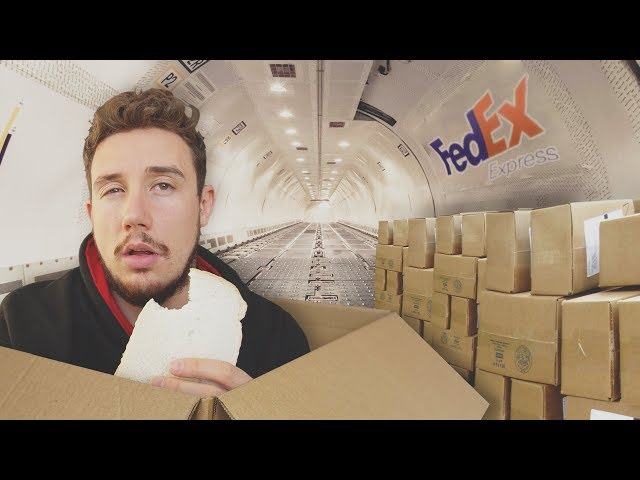 I Mailed Myself in a Box UK to USA HUMAN MAIL CHALLENGE PART 3 - BY AIR