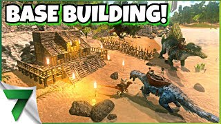 NEW GAME BUILDING A HUGE BASE WITH VIEWERS!!  | ARK SURVIVAL EVOLVED MOBILE