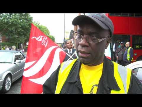 London bus workers in Olympic bonus strike