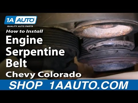 How To Install Replace Engine Serpentine Belt Chevy Colorado 04-12 1AAuto.com.