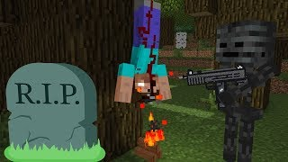 Monster School : Herobrine DIES and becomes ZOMBIE - Horror Minecraft Animation