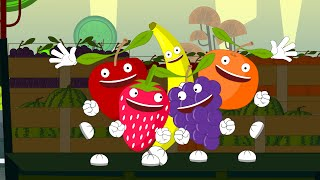 Five Little Fruits | Nursery Rhyme| Fun Song For Children