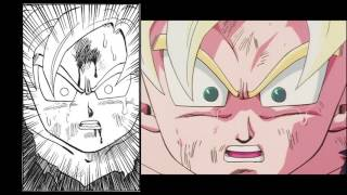 Gohan SSJ2 Transformation Anime Manga Comparison (Dragon Ball)