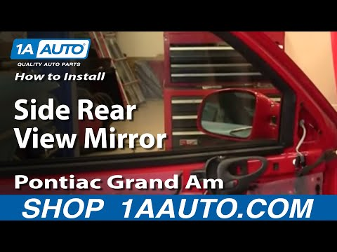 How To Install Replace Side Rear View Mirror Pontiac Grand Am 99-06 1AAuto.com