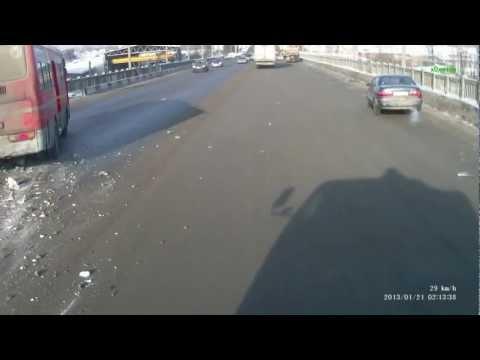 ДТП в Иркутске на Иркутном мосту