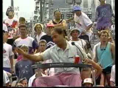 Boris Becker - swearing, whining, complaining, shouting, celebrating
