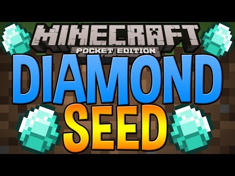 DIAMOND SEED - Minecraft Pocket Edition - Epic Seed With Diamonds & More!