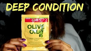 DEEP CONDITIONING || ORS REPLENISHING PAK || NATURAL HAIR