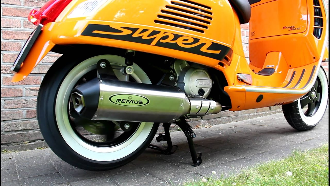 vespa super sport 125 i e remus exhaust sound youtube. Black Bedroom Furniture Sets. Home Design Ideas