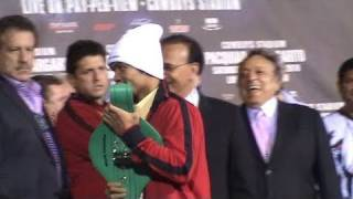 Manny Pacquiao Jokes Around with WBC Super Welterweight Belt
