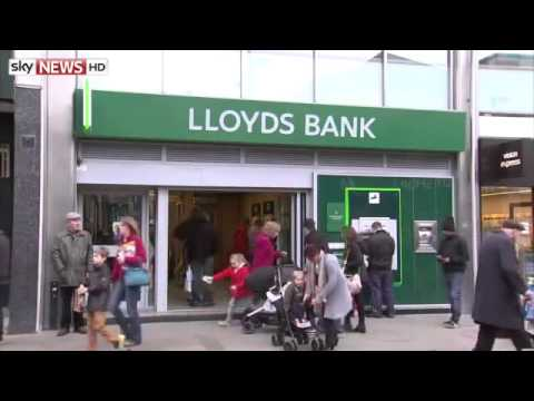 LIVE NEWS : Lloyds Bank to Cut 9,000 Jobs And Shut 200 Branches