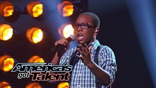 """Quintavious Johnson: 12-Year-Old Boy's Cool """"And I Am Telling You"""" Cover - America's Got Talent 2014"""