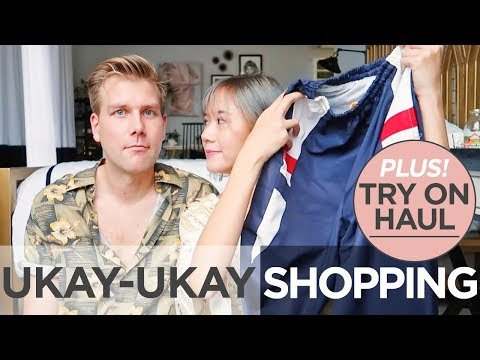Ukay Ukay Shopping + Try On Haul with my boyfriend | Camille Co