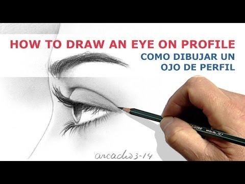 HOW TO DRAW AN EYE ON PROFILE./ COMO DIBUJAR UN OJO DE PERFIL