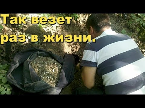 Оползень грунта вытолкнул клад серебра.В поисках Золота и Старины с Дмитрием.