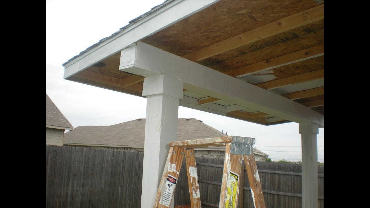How to build a patio cover pt 2 must see edition youtube for Patio cover construction plans