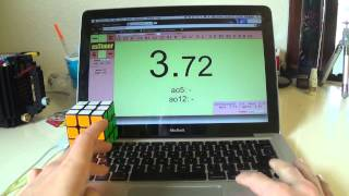 Rubik's Cube Solved in 3.72 Seconds (stupid scramble lol)