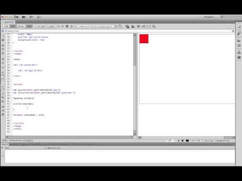 How to move a character on a screen with Javascript