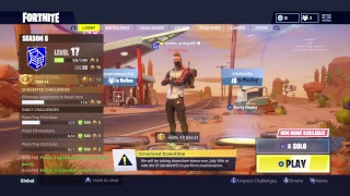 Lets play some fortnite baby