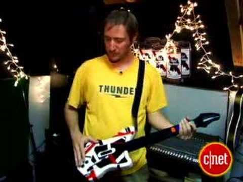Band jams on hacked  Guitar Hero  controllers