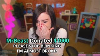 I Donated $1000 Every Time She Blinked - Fortnite Streamers