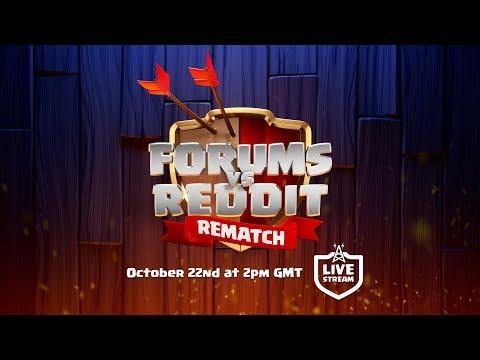 Clash of Clans - Forums vs Reddit REMATCH Livestream Announcement thumbnail
