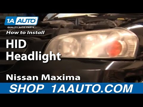 How To Install Replace HID Headlights 2002-03 Nissan Maxima