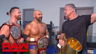 Shane McMahon congratulates The Revival: Raw Exclusive, June 10, 2019