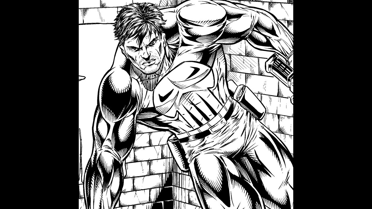 Art Of Comics And Manga: Punisher Comic Book Art Pencil And Inks Digital : Manga