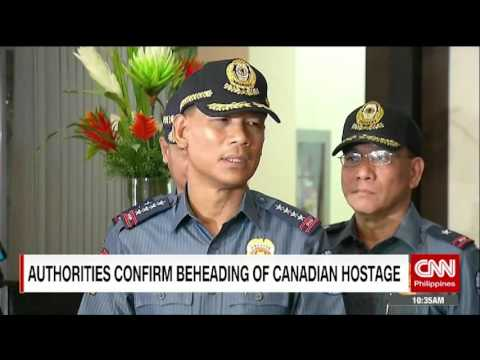 Authorities confirm beheading of Canadian hostage