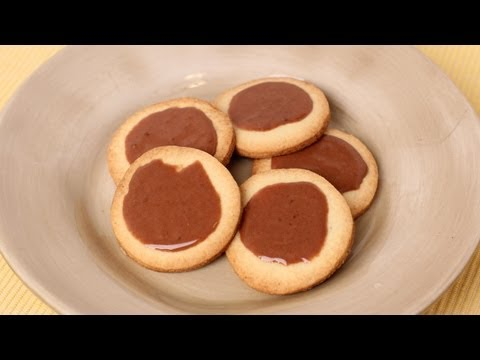 Butter Cookies with Chocolate Glaze Recipe
