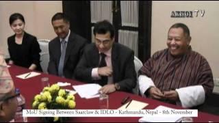Saarclaw - IDLO MoU 8th Nov Kathmandu