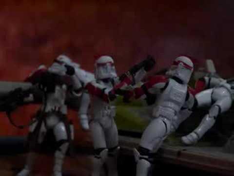 Star wars Clones VS. Tri-Droid.