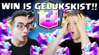 ELKE WIN IS 1 GELUKSKIST IN CLASH ROYALE! VS TOLGAHAN!!