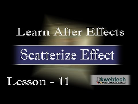 After Effects Beginners Tutorials I  Scatterize Effect I in Hindi #11