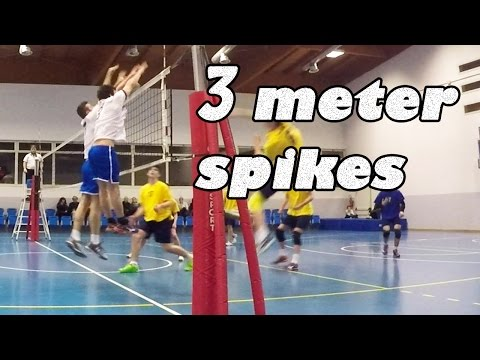 powerful volleyball spikes in 3 meter   Ace jumper