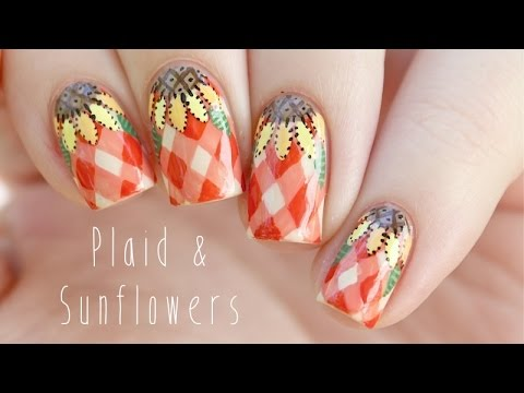 Autumn Plaid Sunflower