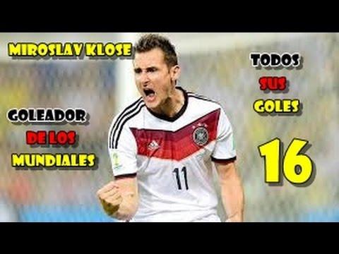Todos los goles de Miroslav Klose en los Mundiales (16) (Goleador)