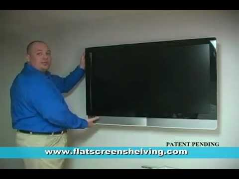 Hide Tv Cables Floating Shelf For Flat Screen Television