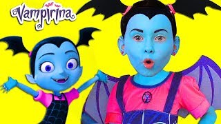 Junior Vampirina and Alice Pretend Play with favorite toys